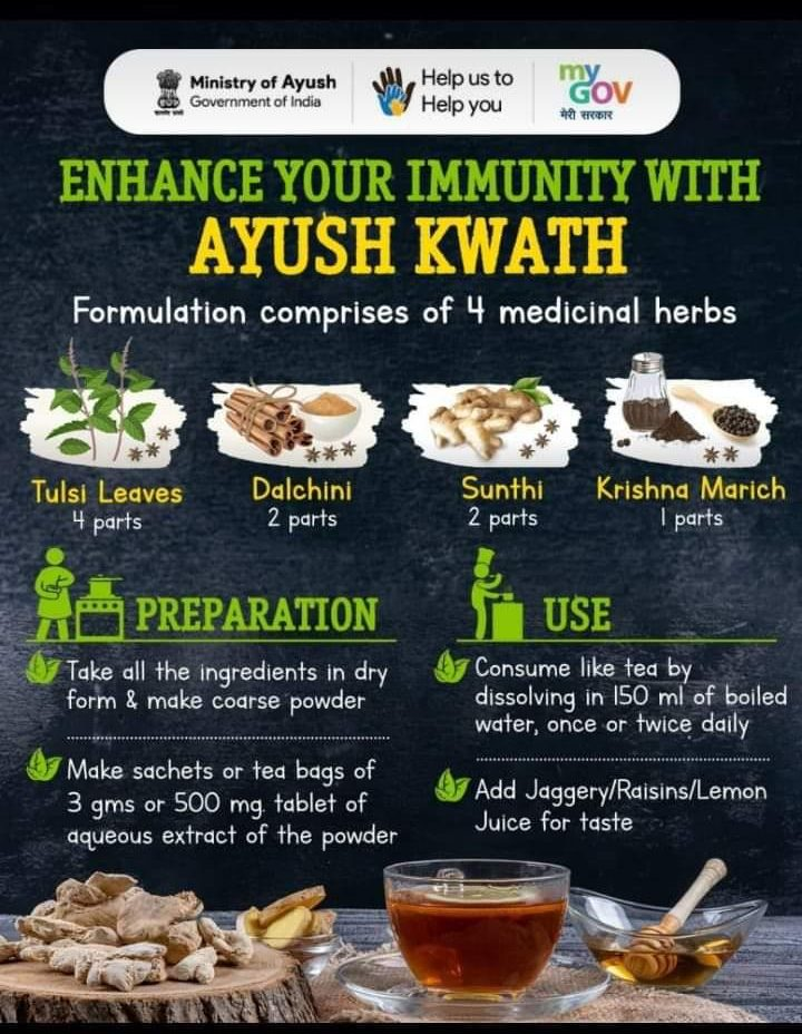 Enhance your immunity with Ayush Kwath